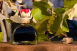 bottiglia di aceto balsamico di modena - 186018567