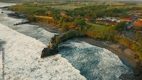 Top view of one of Bali's beaches