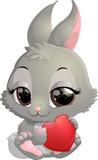 Cute rabbit cartoon - 186030944