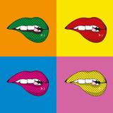 Pop art mouth design - 186032518
