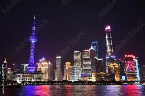 Staande foto Shanghai Shanghai Skyline with Pearl River