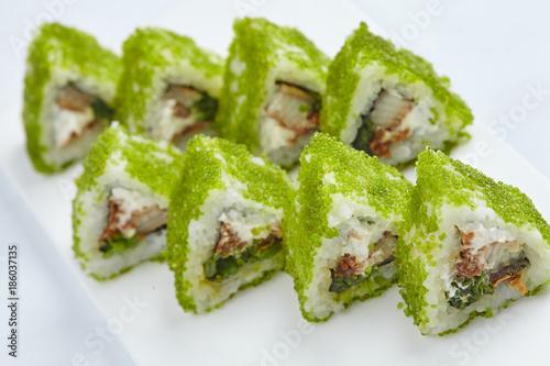 Foto op Canvas Sushi bar tasty sushi