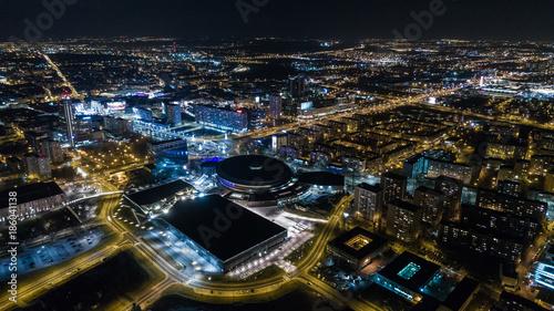 Nocna panorama miasto katowice - 186041138