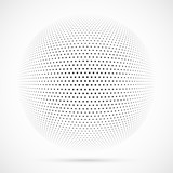 White 3D vector halftone sphere.Dotted spherical background.Logo template with shadow.Circle dots isolated on the white background. - 186049737