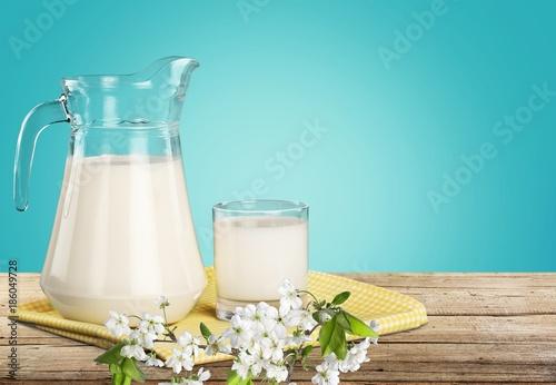 Foto op Canvas Milkshake Milk.