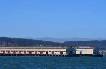 San Francisco; USA - july 13 2016 :  city seen from the seaside