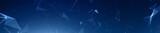 Dark blue plexus panoramic hero background - 186056339
