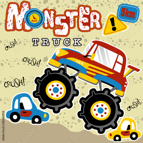 Aluminium Auto monster truck cartoon