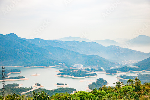 Foto op Canvas Wit Countryside landscape in Hong Kong