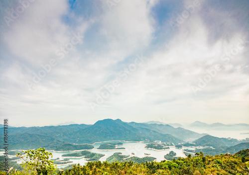 Fotobehang Wit Countryside landscape in Hong Kong