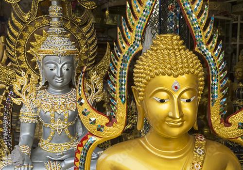 Poster Boeddha Buddha statues in Bangkok Thailand