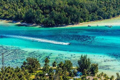 Foto op Aluminium Tropical strand lagon de l'île de Moorea en Polynésie