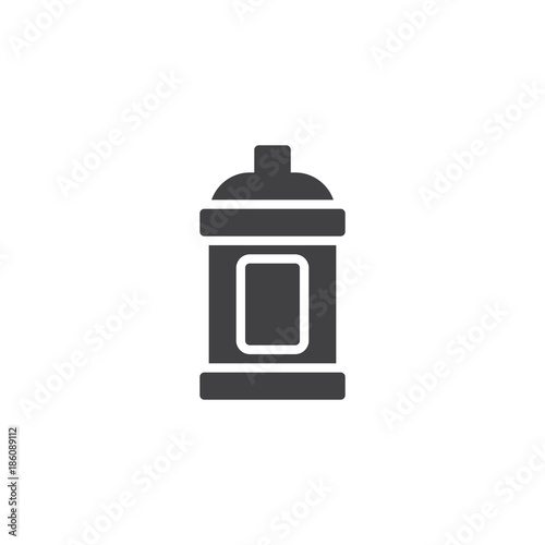 Staande foto Graffiti Graffiti spray icon vector, filled flat sign, solid pictogram isolated on white. Symbol, logo illustration.