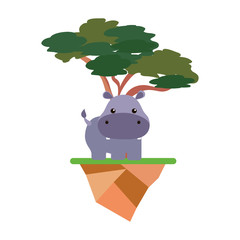 cute animals and tree