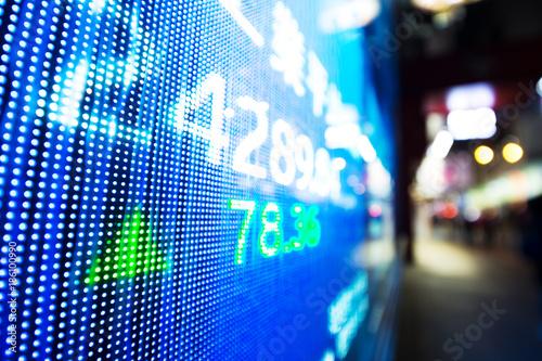 Foto op Canvas Snelle auto s digital screen on stock market