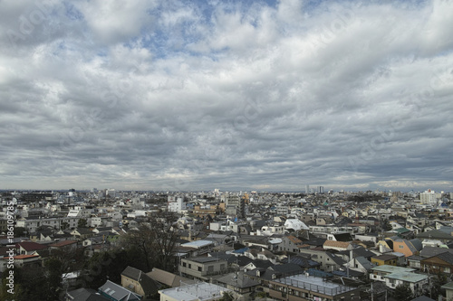 Foto op Plexiglas Parijs 町並み_雲