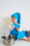 Baby in chef hat - 186119177