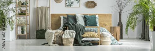 Foto Murales Bright bedroom for traveler