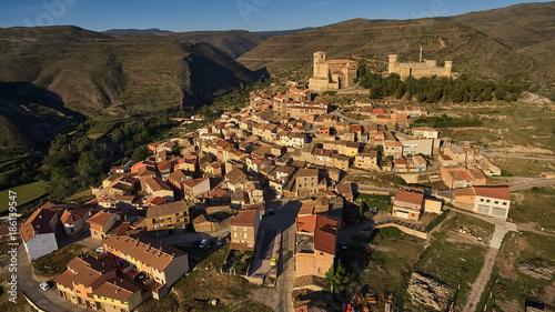 Foto Murales Cornago village in La Rioja province, Spain