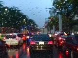 road traffic with rain - 186142165