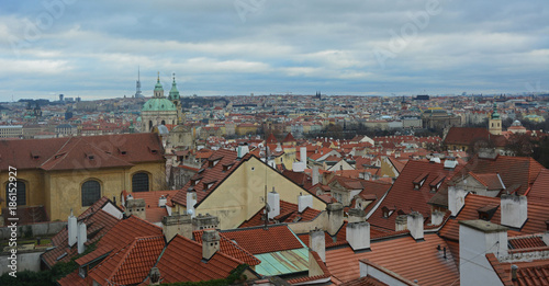 Foto op Canvas Praag Panorama de Prague