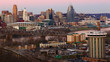 View of the Cincinnati, Ohio skyline at twilight