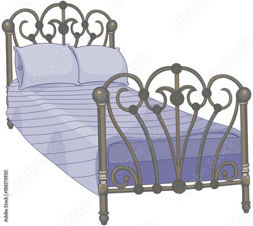 Deurstickers Sprookjeswereld Tucked Bed