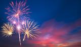 Fototapety fireworks Beautiful sky