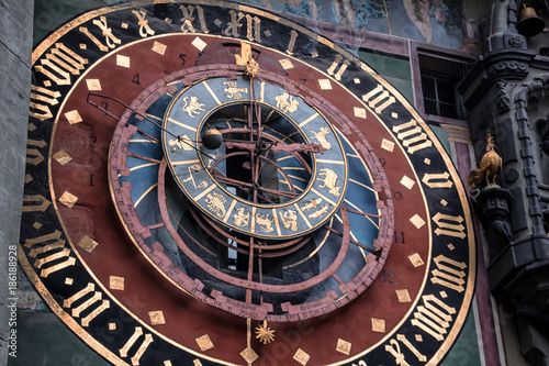 Closeup of the Astronomical Clock in Bern, Switzerland Poster