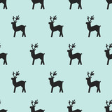seamless deer pattern - 186197116