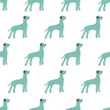 seamless dog pattern - 186197164