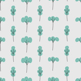 seamless tree pattern - 186197186