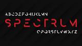 Spectrum regular futuristic decorative sans serif typeface design. - 186202782