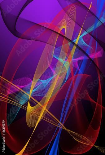 Poster Graffiti Vector de formas y líneas de colores