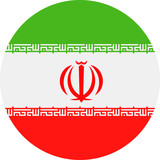Iran Flag Vector Round Flat Icon - 186207540