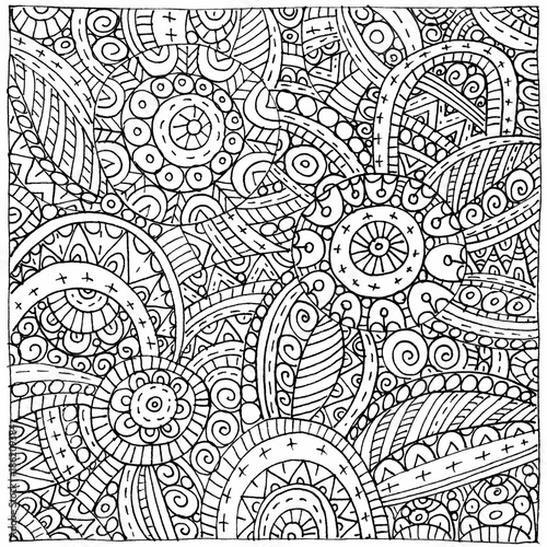 Abstract hand-drawn outline pattern - 186209384