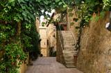 Old italian street in Pienza