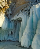 The beauty of the ice caves on Olkhon island