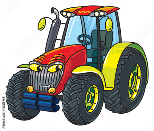 Aluminium Auto Funny small tractor with eyes