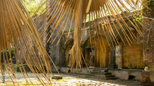 Aluminium Bamboe Image Of Abandoned Old House At Ross Island, Shot From Ross Island