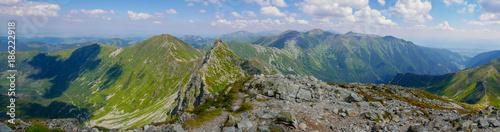 Fotobehang Panoramafoto s Mountain panoramas, Western Tatras, Peaks