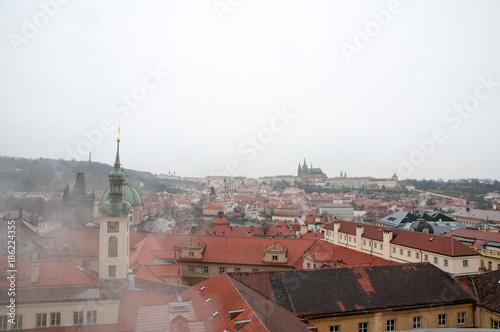 Prague cityscape Poster