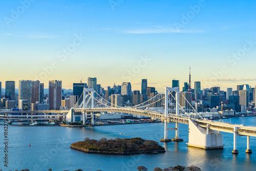 Poster Tokio お台場から見た都市風景