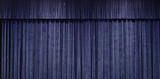 Close up on Blue curtain stage background - 186235372