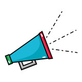 megaphone hone to speaker loud message - 186256508