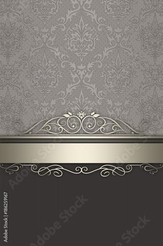 Decorative vintage background with elegant patterns. - 186259167