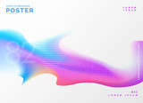 fluid color poster design template background - 186289777