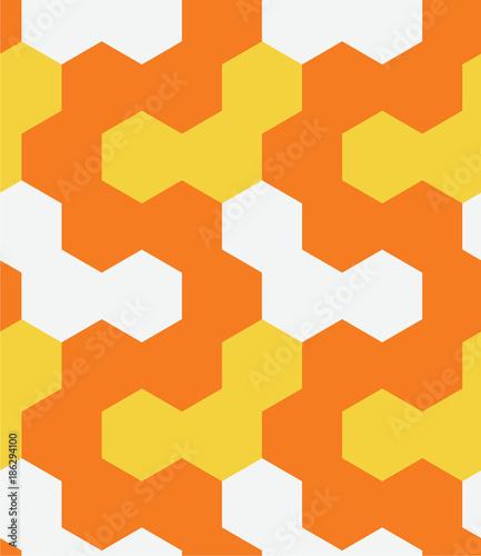Irregular hexagon seamless pattern. For print, fashion design, wrapping wallpaper - 186294100