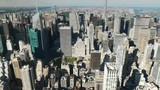 zoom out shot of the skyline of upper manhatten in new york - 186301714