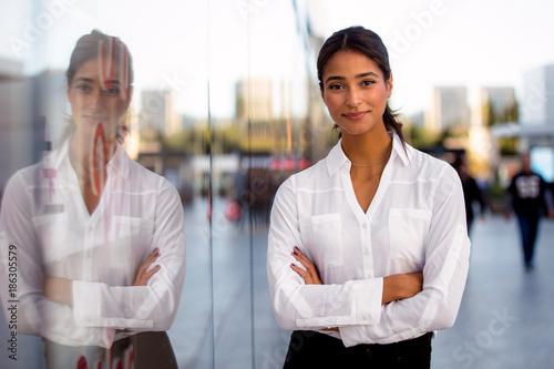 Beautiful classy elegant distinguished businesswoman, ambiguous ethnicity, modern executive